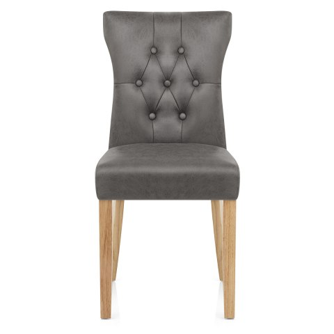 Bradbury Oak Dining Chair Grey