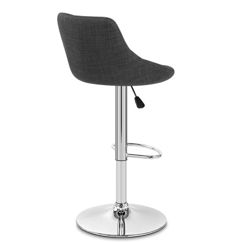 Stitch Bar Stool Charcoal Fabric