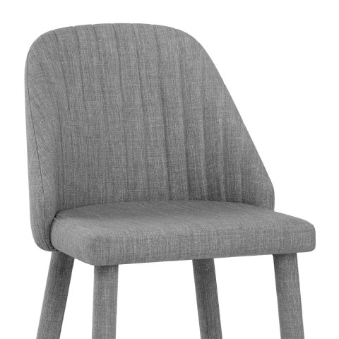 Shelby Bar Stool Grey Fabric