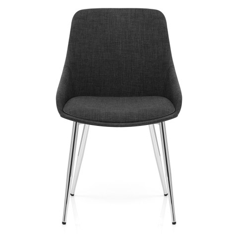Aston Dining Chair Charcoal Fabric