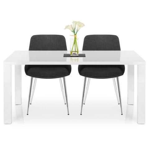 Aston Dining Chair Charcoal Fabric Atlantic Shopping