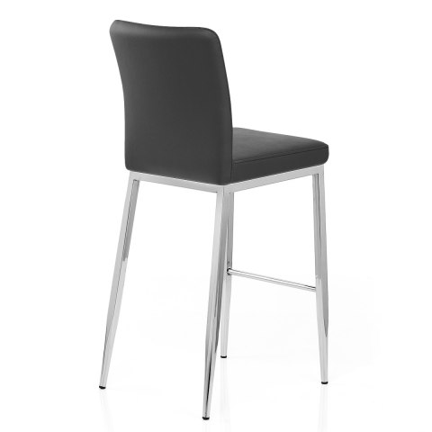 Jensen Stool Black Real Leather