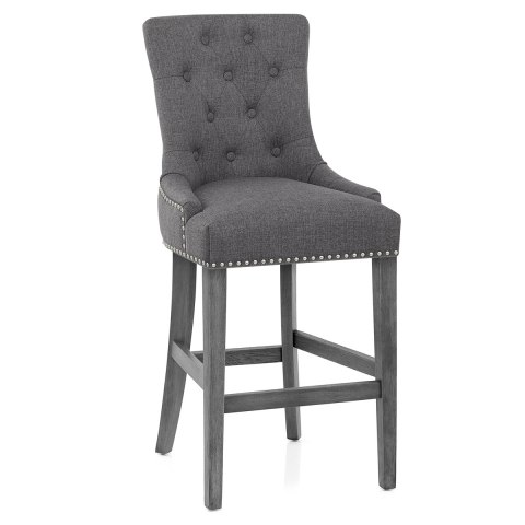 Etienne Bar Stool Charcoal Fabric
