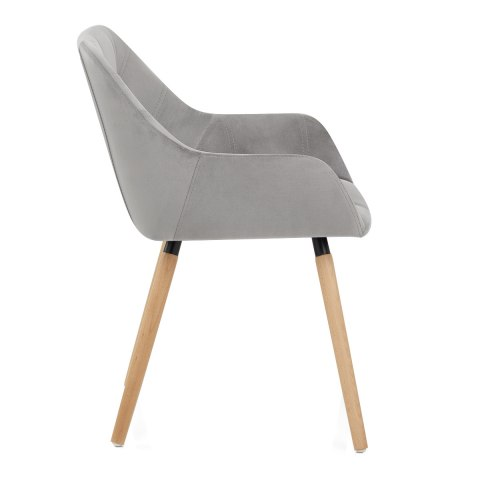 Harris Dining Chair Grey Velvet