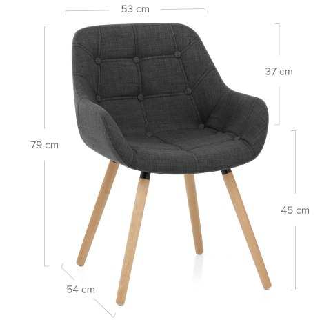 Harris Dining Chair Charcoal Fabric