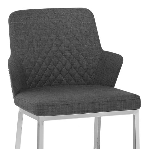 Arden Bar Stool Charcoal Fabric