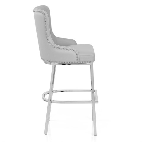 Grange Bar Stool Grey Leather