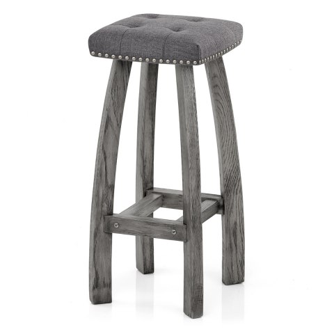 Cromwell Bar Stool Charcoal Fabric