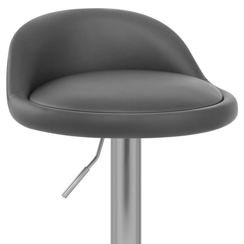 Lulu Brushed Steel Stool Grey
