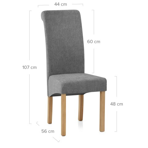 Carolina Dining Chair Grey Fabric