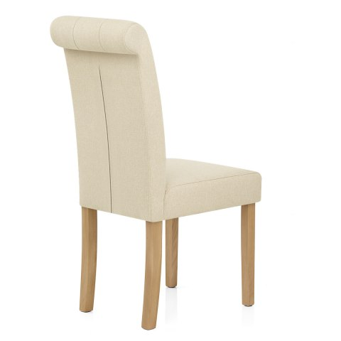 Portland Dining Chair Cream Fabric