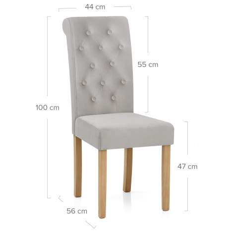 Portland Dining Chair Grey Velvet
