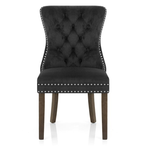 Kensington Dining Chair Black Velvet