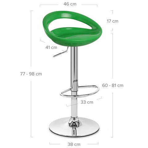 Crescent Bar Stool Green