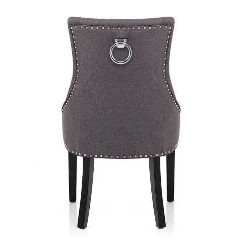 Ascot Dining Chair Charcoal Fabric
