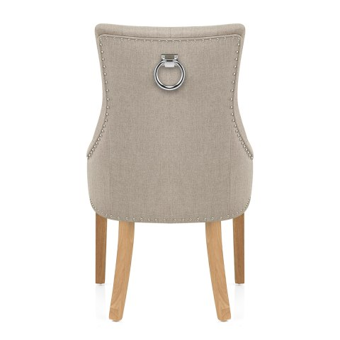 Ascot Oak Dining Chair Tweed Fabric