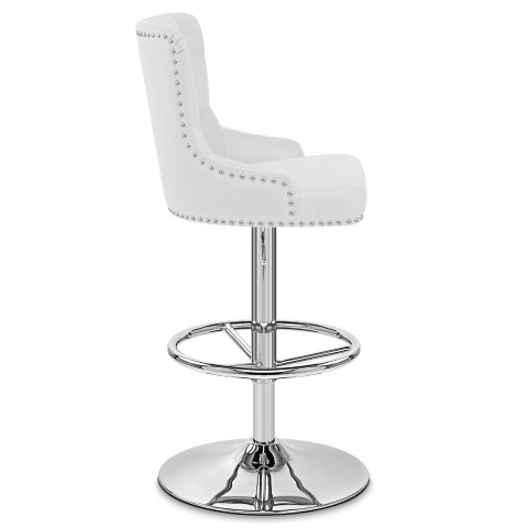 Manor Bar Stool White Leather
