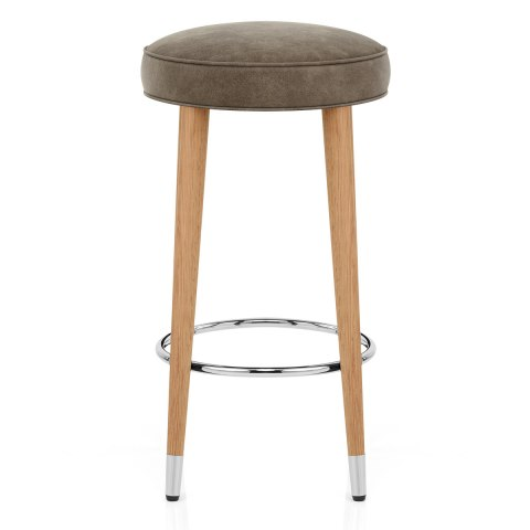 Conrad Oak Stool Antique Brown