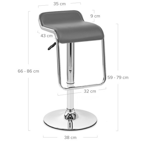 Niagara Bar Stool Grey