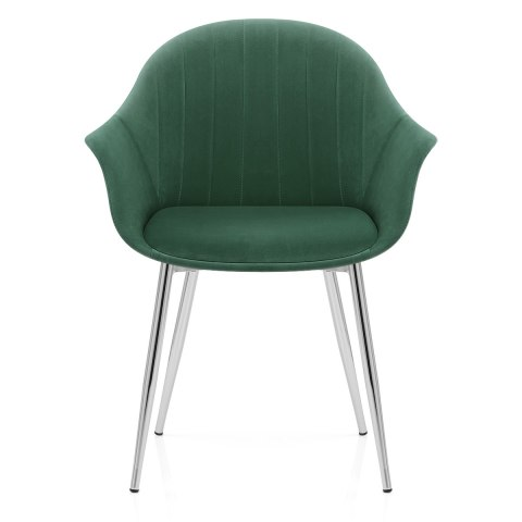 Flare Dining Chair Green Velvet