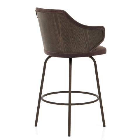 Duke Bar Stool Brown Velvet