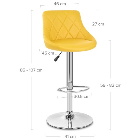 Stitch Bar Stool Yellow
