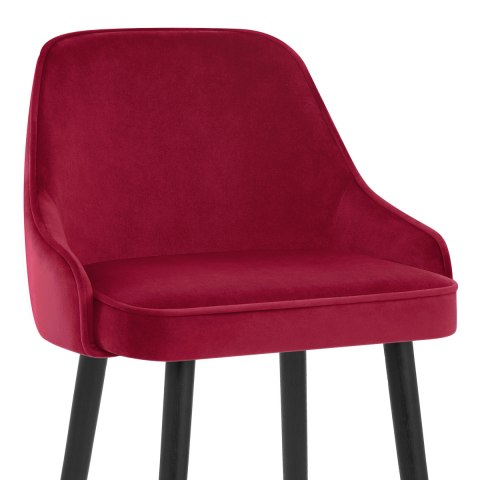Glam Bar Stool Red Velvet