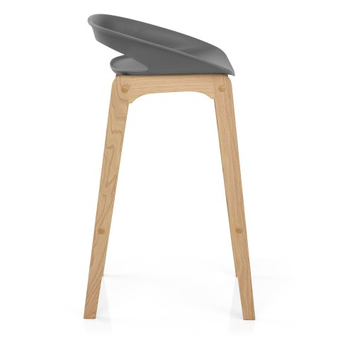 Crew Wooden Bar Stool Grey