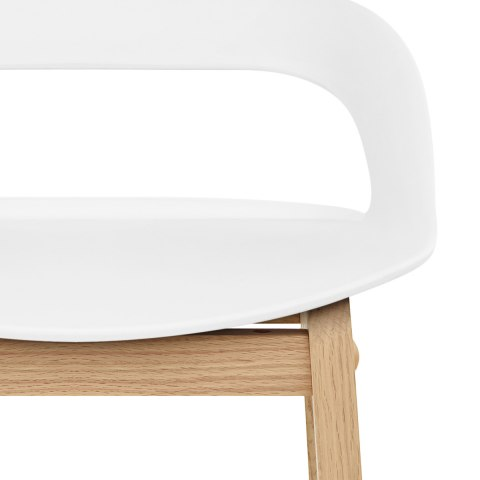 Crew Wooden Bar Stool White