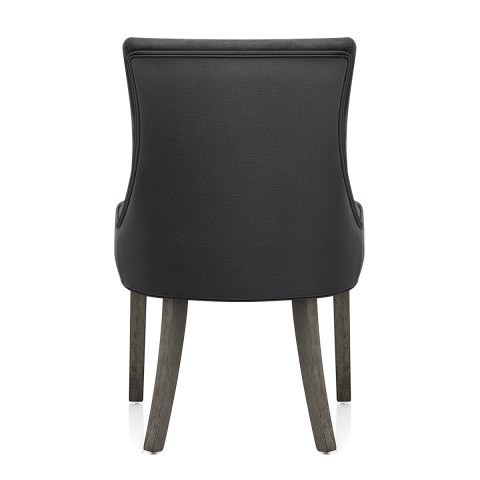 Richmond Grey Oak Chair Charcoal Fabric