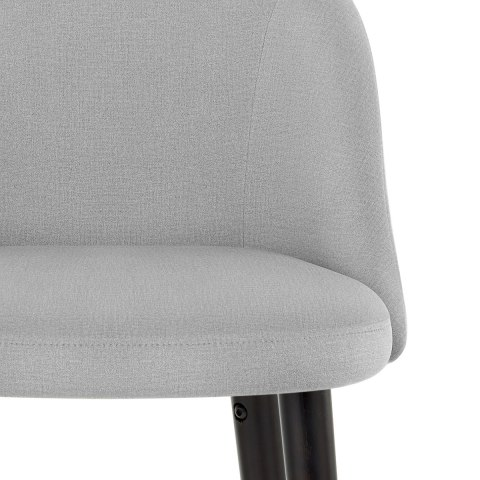 Polo Bar Stool Grey Fabric