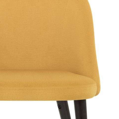 Polo Dining Chair Mustard Fabric