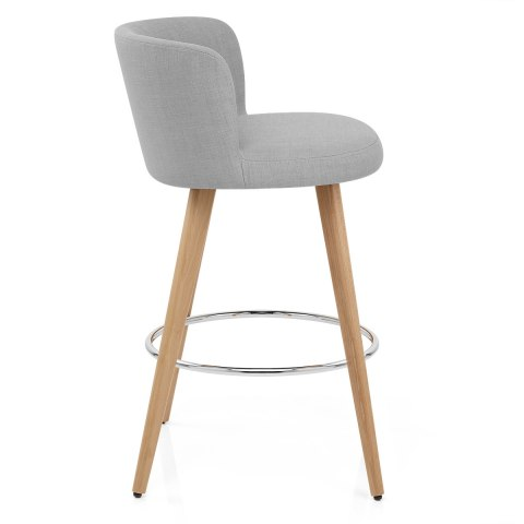 Club Bar Stool Grey Fabric