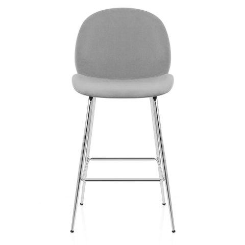 Bella Bar Stool Grey Velvet