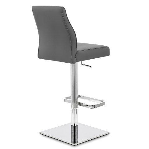 Martello Real Leather Stool Grey