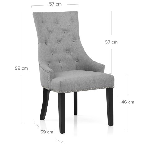 Ascot Dining Chair Grey Fabric