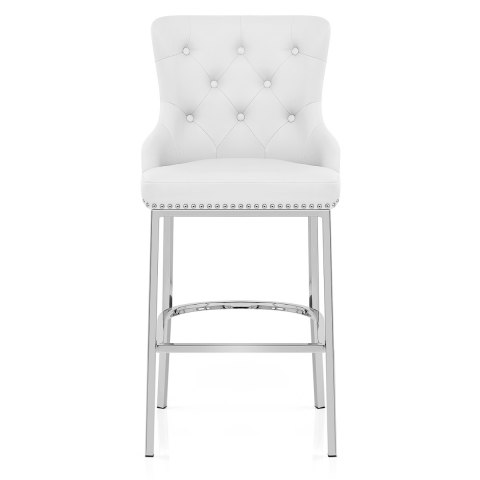 Stupendous Grange Bar Stool White Leather Gmtry Best Dining Table And Chair Ideas Images Gmtryco