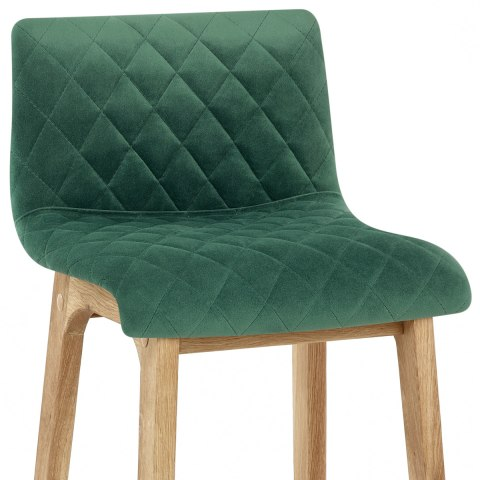 Colt Oak Stool Green Velvet