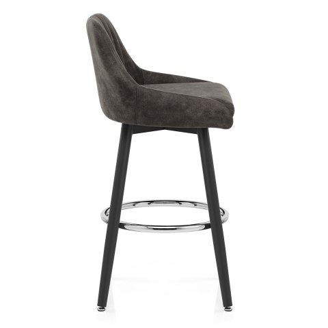 Hamilton Bar Stool Antique Charcoal