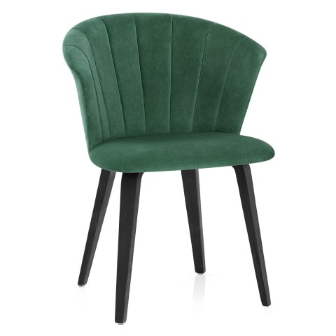 Scroll Dining Chair Green Velvet