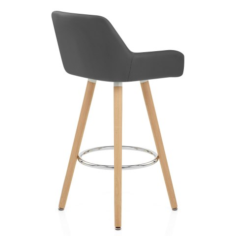 Solo Wooden Bar Stool Grey