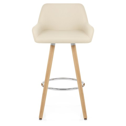 Super Solo Wooden Bar Stool Cream Pabps2019 Chair Design Images Pabps2019Com