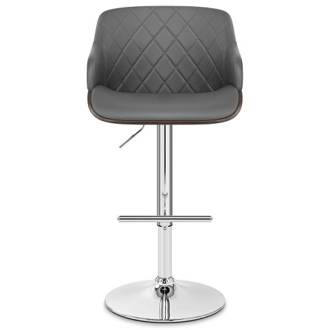 Dakota Bar Stool Grey Leather
