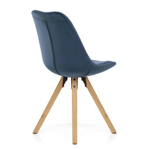 Prism Dining Chair Blue Velvet