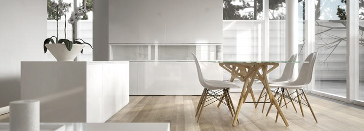 White Eames Dining Chairs in Bright White Home