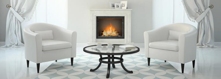 White Leather Tub Chairs with Wooden Legs by Coffee Table
