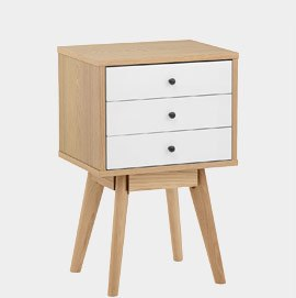 Ambience Set Of Drawers Oak & White