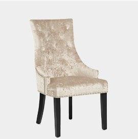 Ascot Dining Chair Beige Velvet