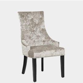 Ascot Dining Chair Mink Velvet