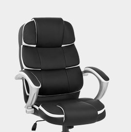 Cadiz Luxury Office Chair Black And White